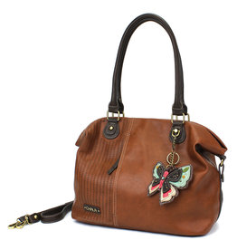Chala Laser Cut Tote (New Butterfly) Brown