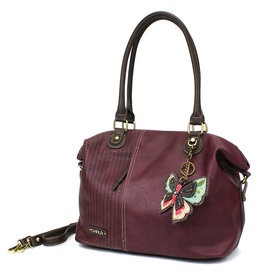 Chala Laser Cut Tote (New Butterfly) Plum