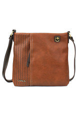 Chala Laser Cut Crossbody (Brown) Metal Dog