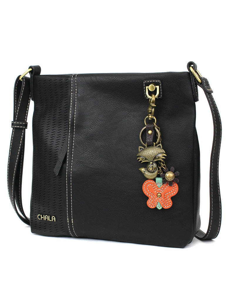 Chala Laser Cut Crossbody (Black) Metal Fox