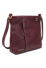 Chala Laser Cut Crossbody (Plum) Metal Owl
