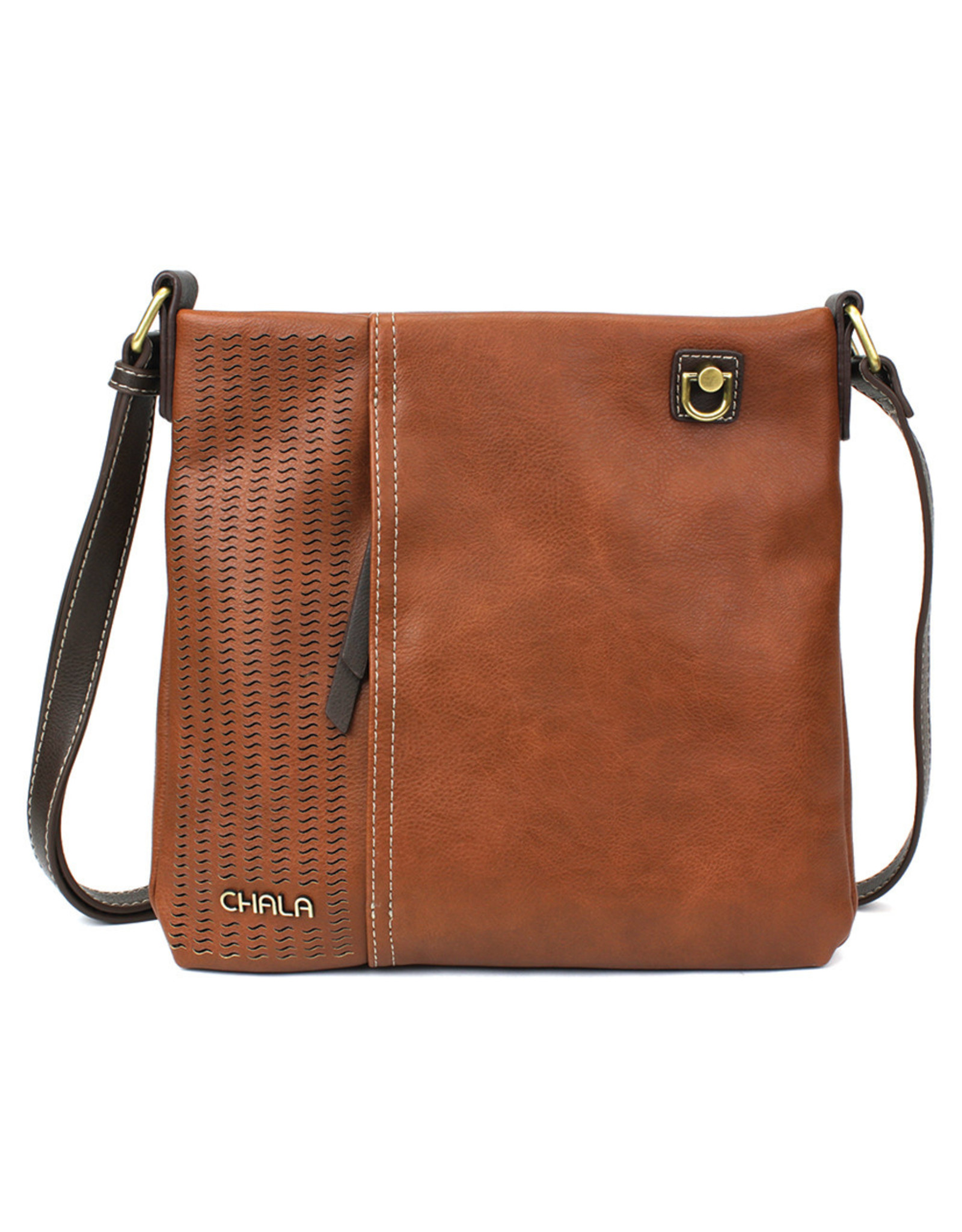 Chala Laser Cut Crossbody (Brown) Metal Sea Turtle