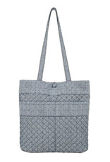 Stephanie Dawn Tote - Chambray Dots