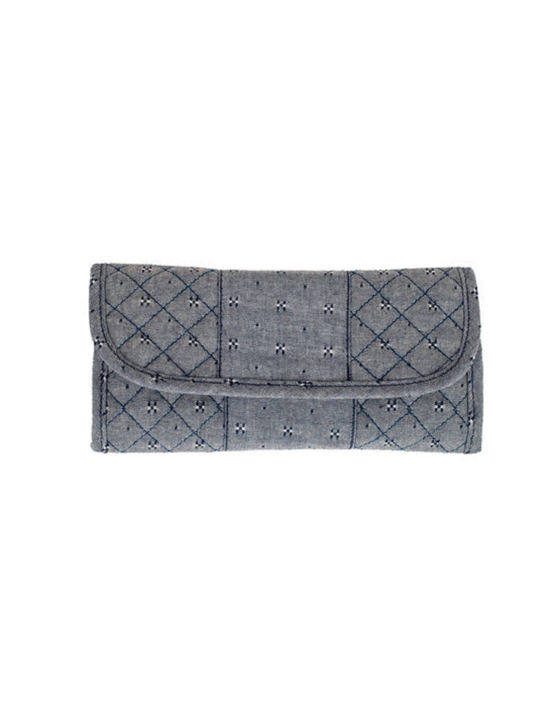 Stephanie Dawn The Convertible Wallet - Chambray Dots