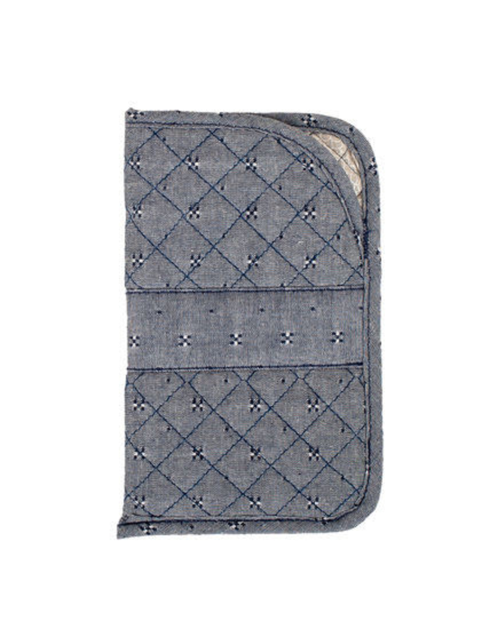 Stephanie Dawn Large Sunglass Case - Chambray Dots