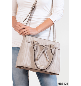 Noelle (Simply Noelle) HBN5123 Gator Shoulderbag - Rose