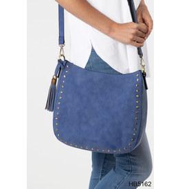 Noelle (Simply Noelle) HBN5162 BB Rivet Hobo - Denim