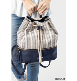 Noelle (Simply Noelle) HBN5200 NU Stripe Backpack - Navy