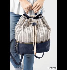 Noelle (Simply Noelle) HBN5200 NU Stripe Backpack - Teak