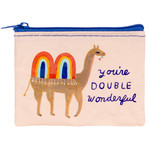 Blue Q Coin Purse - Double Wonderful