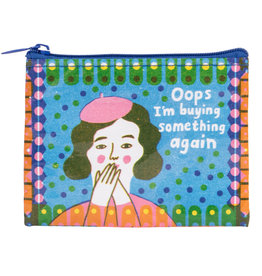 Blue Q Coin Purse - Oops, Buying Something