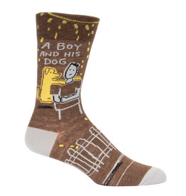 Blue Q Mens Crew Socks - A Boy And His Dog