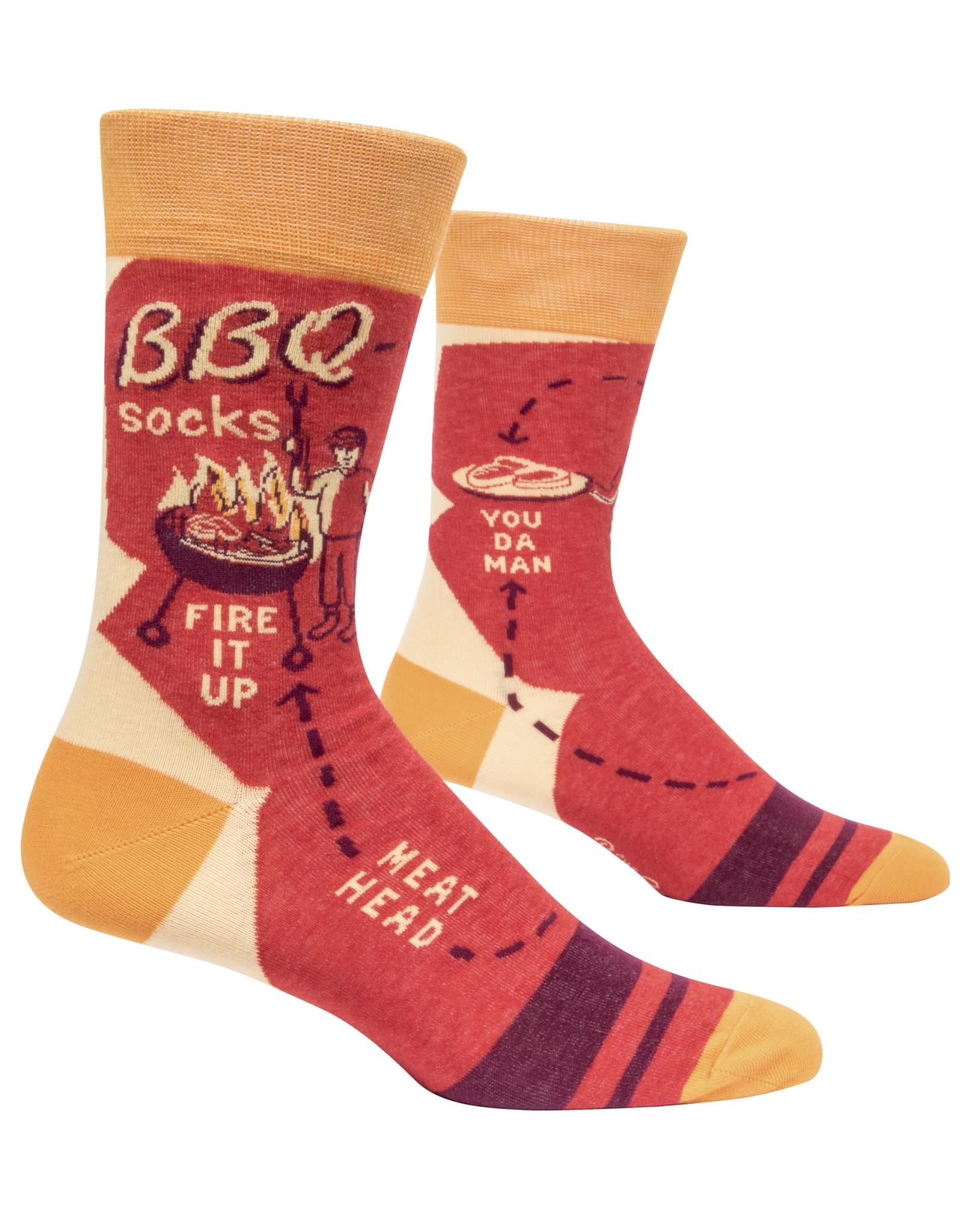 Blue Q Mens Crew Socks - BBQ
