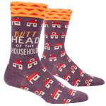 Blue Q Mens Crew Socks - Butthead Household