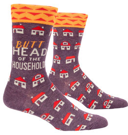 Blue Q Mens Crew Socks - Butthead Household