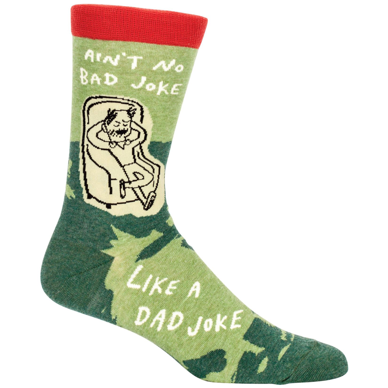 Blue Q Mens Crew Socks - Dad Joke
