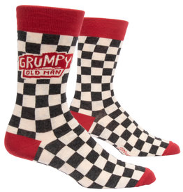 Blue Q Mens Crew Socks - Grumpy Old Man