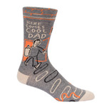 Blue Q Mens Crew Socks - Here Comes Cool Dad