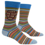 Blue Q Mens Crew Socks - I Left The Seat Up