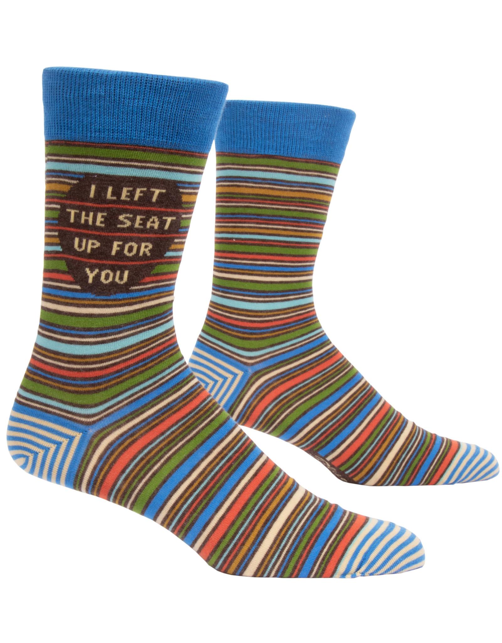 Blue Q Mens Crew Socks - I Left The Seat Up
