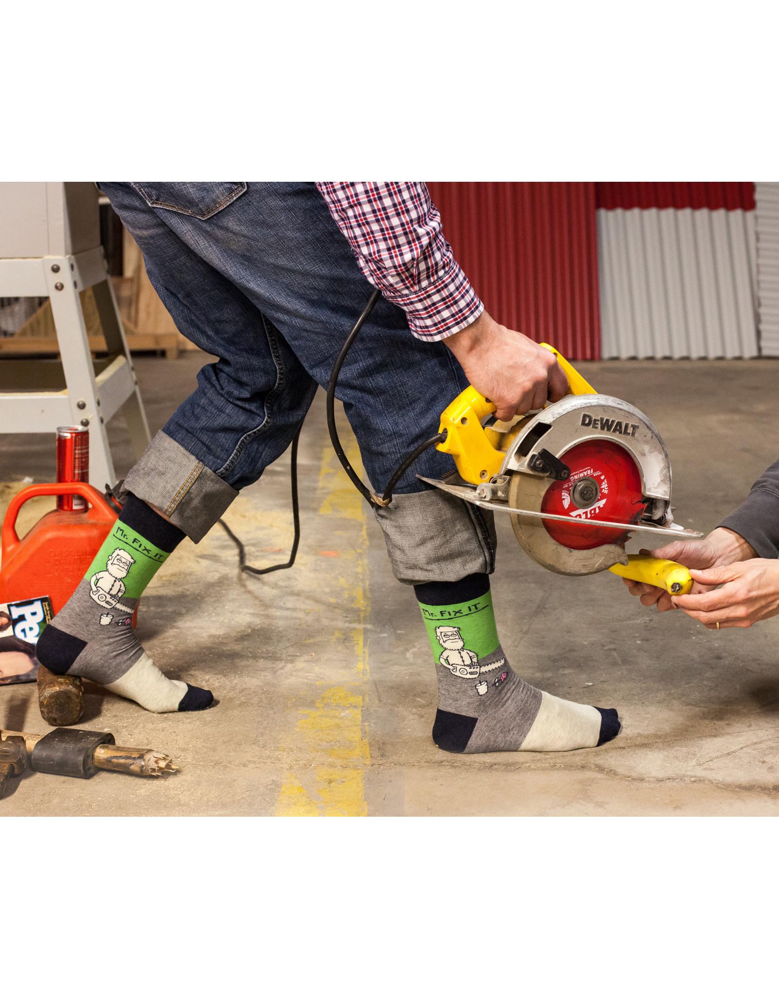 Blue Q Mens Crew Socks - Mr Fix It