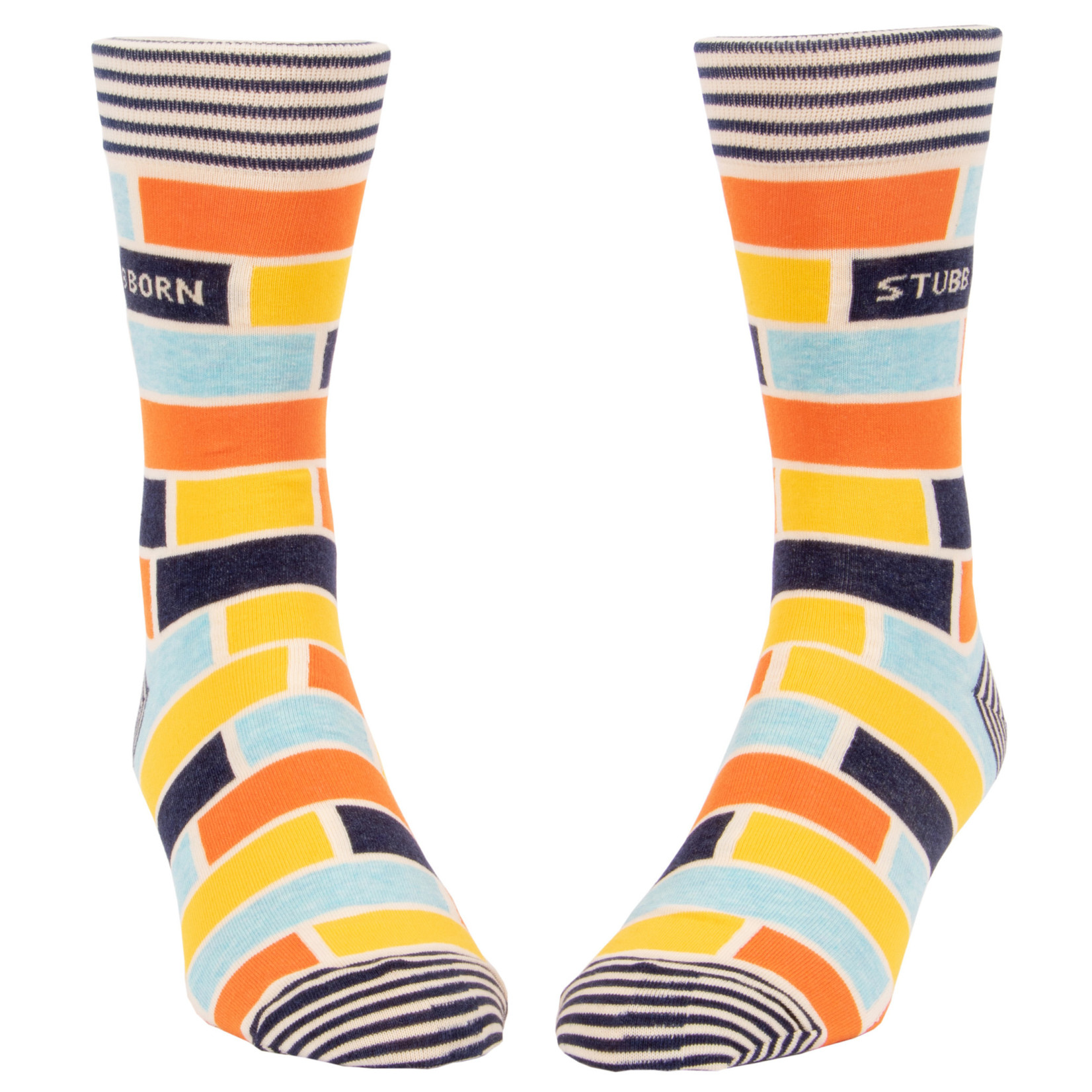 Blue Q Mens Crew Socks - Stubborn