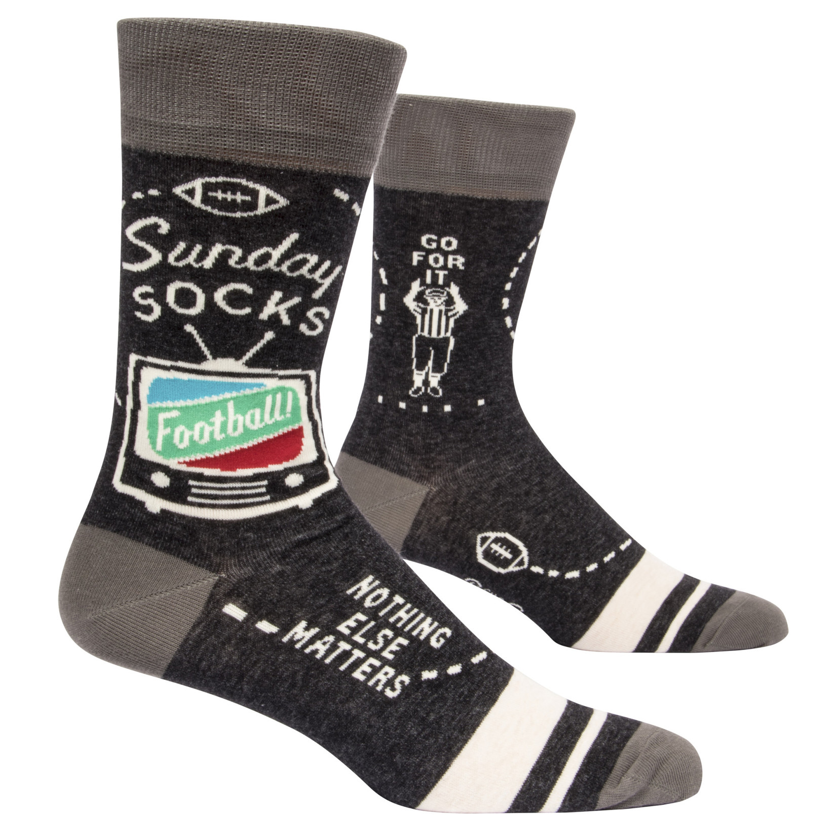Blue Q Mens Crew Socks - Sunday