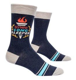 Blue Q Mens Crew Socks - Olympic Long Sleeper