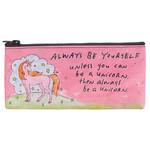 Blue Q Pencil Case - Always Be A Unicorn