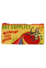 Blue Q Pencil Case - Art Supplies
