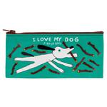 Blue Q Pencil Case - I Love My Dog