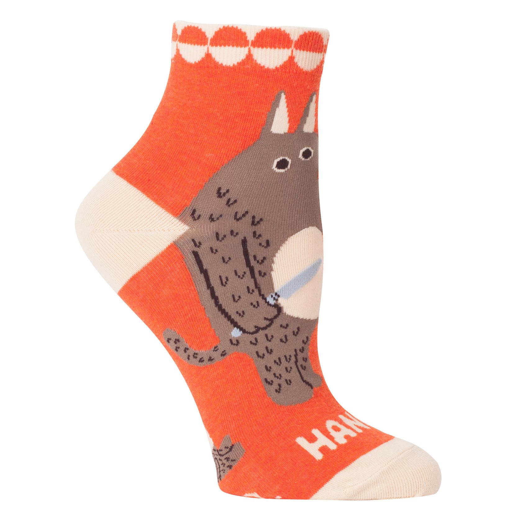 Blue Q Womens Ankle Socks - Hangry