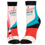 Blue Q Womens Ankle Socks - I Already Knew That