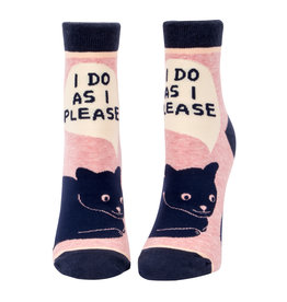Blue Q Womens Ankle Socks - I Do As I Please