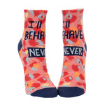 Blue Q Womens Ankle Socks - I'll Behave Never