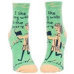 Blue Q Womens Ankle Socks - Long Walks Library