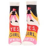 Blue Q Womens Ankle Socks - Yes, Girl, Yes
