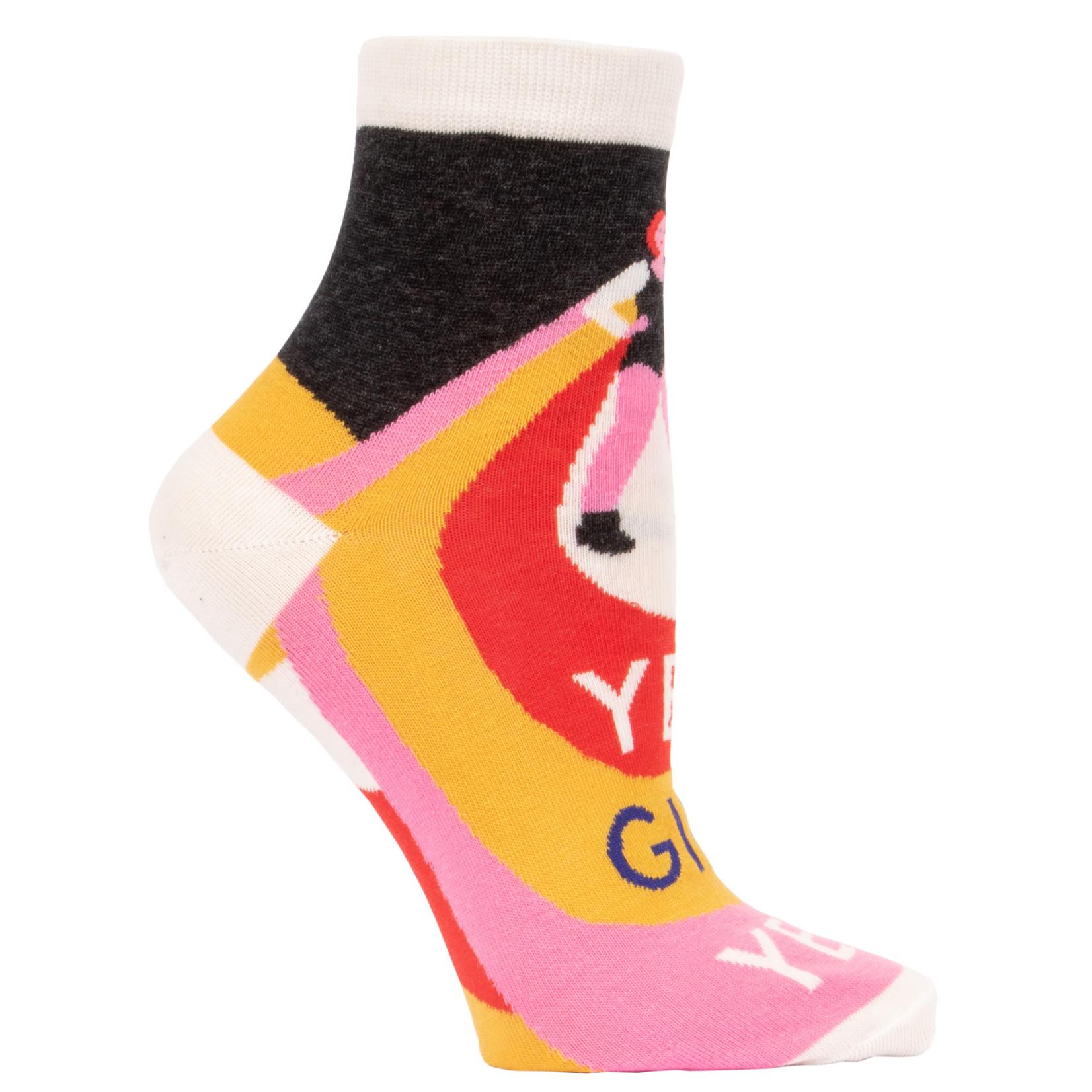 Blue Q Womens Ankle Socks - Yes, Girl, Yes