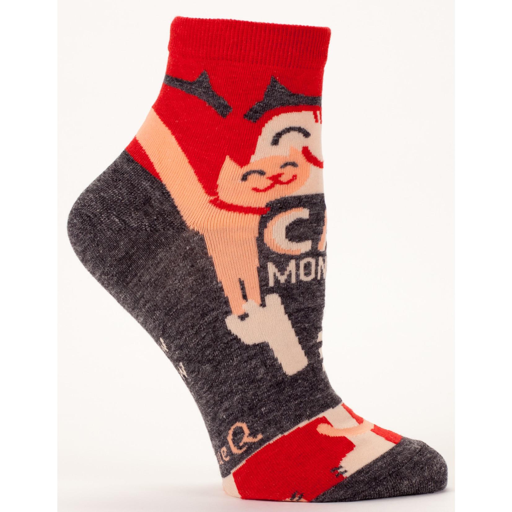 Blue Q Womens Ankle Socks - Cat Monster