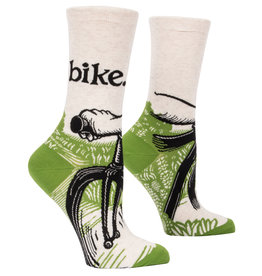 Blue Q Womens Crew Socks - Bike Path