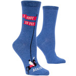 Blue Q Womens Crew Socks - I Have to Pee Again
