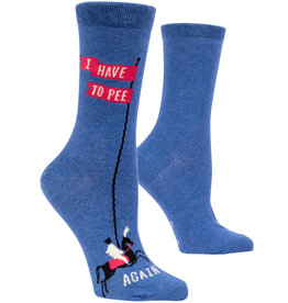 Blue Q Womens Crew Socks - I Have to Pee Again