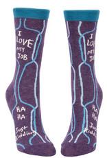 Blue Q Womens Crew Socks - I Love My Job