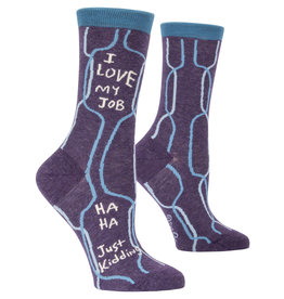 Blue Q Womens Crew Socks - I Love My Job