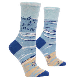 Blue Q Womens Crew Socks - Ocean Gets Me