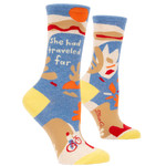 Blue Q Womens Crew Socks - She Had Traveled Far