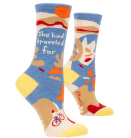 Blue Q Womens Crew Socks - She Had Traveled Far