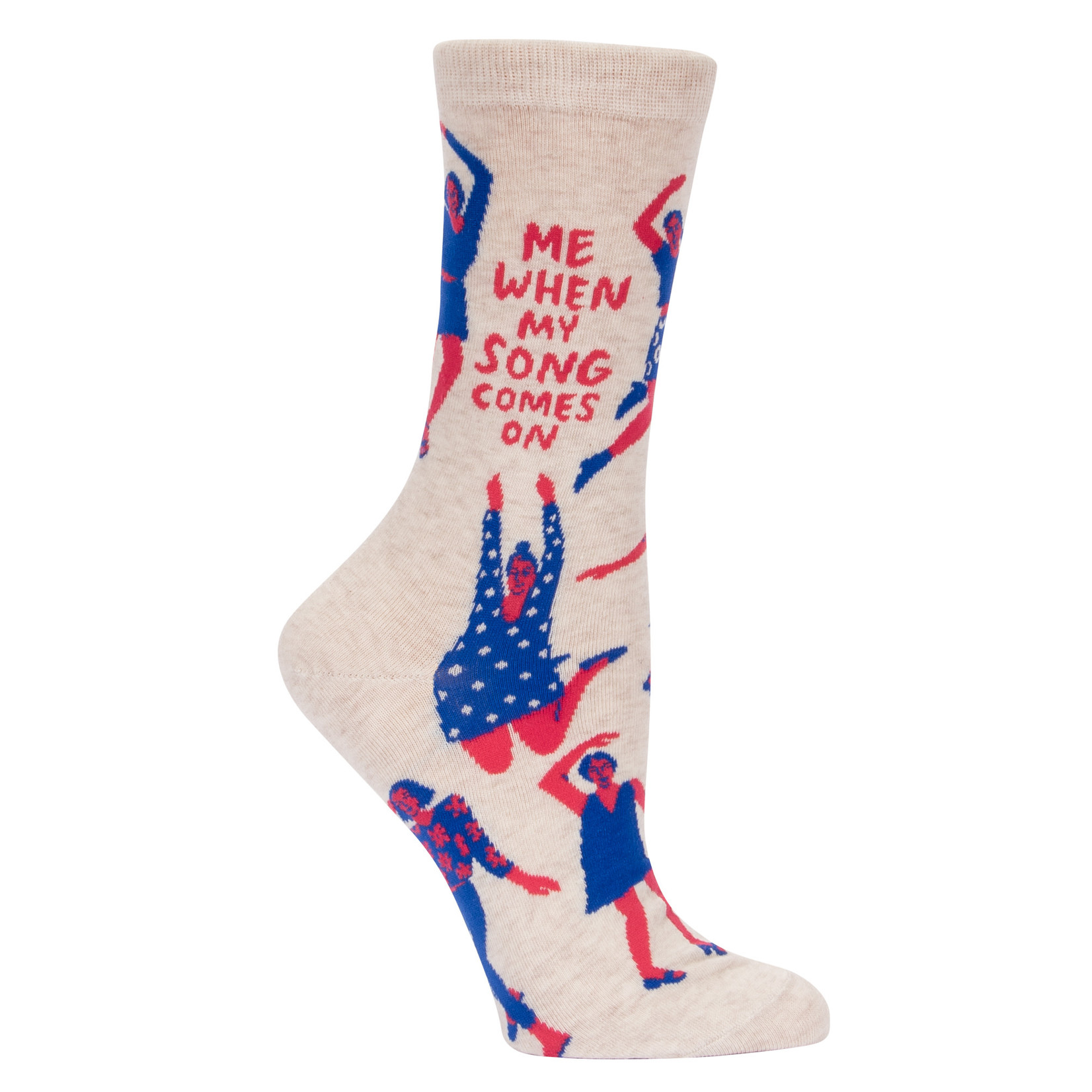 Blue Q Womens Crew Socks - When My Song Comes On