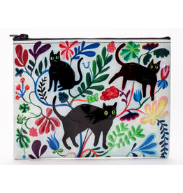 Blue Q Zipper Pouch - Here Kitty
