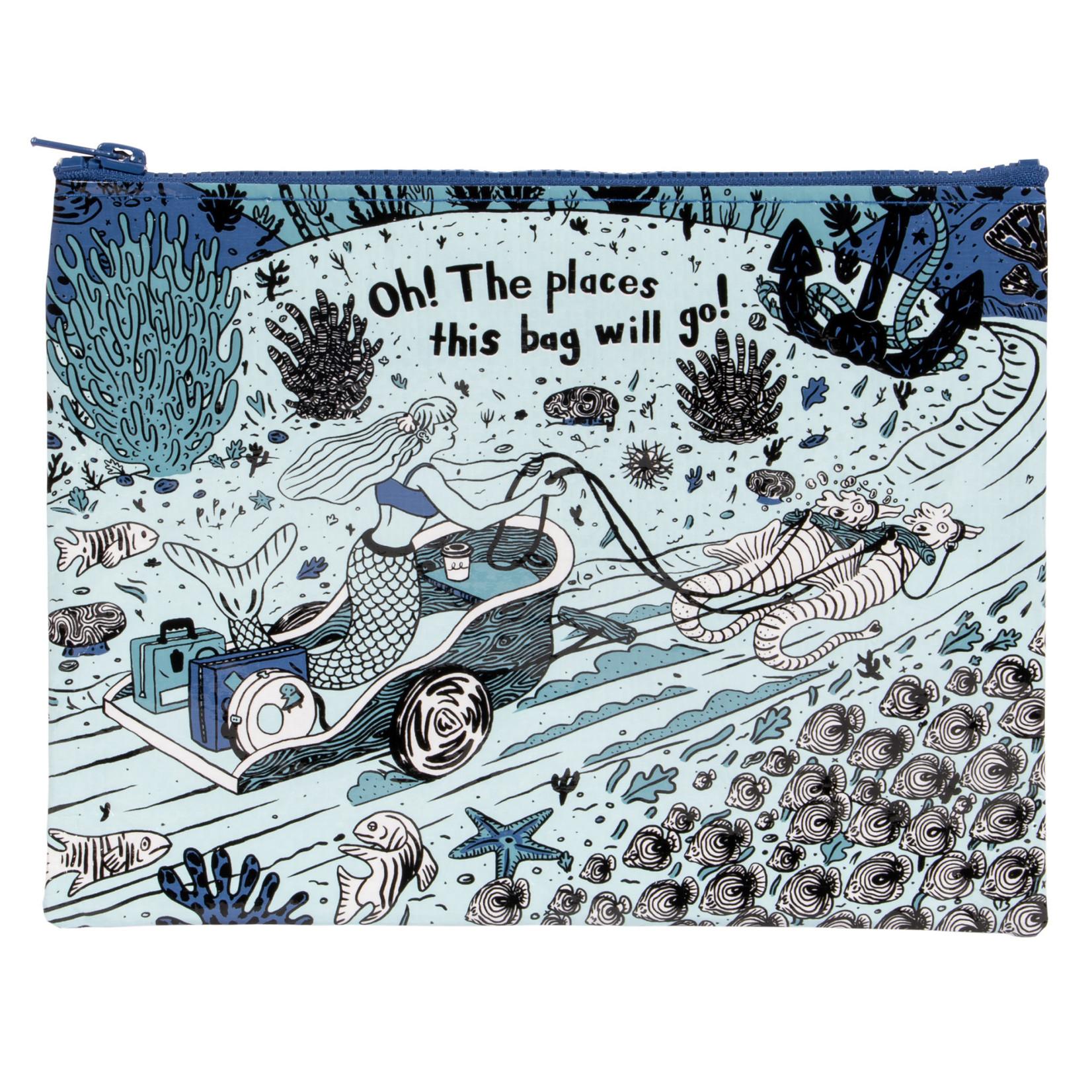 Blue Q Zipper Pouch - Oh! The Places